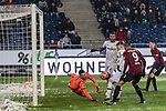 10.03.2019, HDI Arena, Hannover, GER, 1.FBL, Hannover 96 vs Bayer 04 Leverkusen<br /> <br /> DFL REGULATIONS PROHIBIT ANY USE OF PHOTOGRAPHS AS IMAGE SEQUENCES AND/OR QUASI-VIDEO.<br /> <br /> im Bild / picture shows<br /> Tor 2:2, Luk&aacute;&scaron; Hr&aacute;deck&yacute; (Lukas Hradecky) (Leverkusen #01) wehrt ab aber vom Mitchell Weiser (Leverkusen #23) Oberschenkel prallt der Ball ins Tor, <br /> <br /> Foto &copy; nordphoto / Ewert