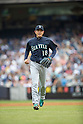 Hisashi Iwakuma (Mariners), JULY 18, 2015 - MLB : Hisashi Iwakuma of the Seattle Mariners during the Major League Baseball game against the New York Yankees at Yankee Stadium in the Bronx, New York, United States. (Photo by Thomas Anderson/AFLO) (JAPANESE NEWSPAPER OUT)