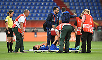 20170721 - TILBURG , NETHERLANDS : ilaria Mauro injured  pictured during the female soccer game between Germany and Italy  , the second game in group B at the Women's Euro 2017 , European Championship in The Netherlands 2017 , Friday 21 th June 2017 at Stadion Koning Willem II  in Tilburg , The Netherlands PHOTO SPORTPIX.BE | DIRK VUYLSTEKE