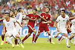 Diego Costa, Sergio Busquets (ESP), JUNE 18, 2014 - Football / Soccer : FIFA World Cup Brazil<br /> match between Spain and Chile at the Maracana Stadium in Rio de Janeiro, Brazil. (Photo by AFLO)