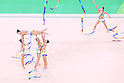 Japan team group (JPN), <br /> AUGUST 20, 2016 - Rhythmic Gymnastics : <br /> Group All-Around Qualification <br /> at Rio Olympic Arena <br /> during the Rio 2016 Olympic Games in Rio de Janeiro, Brazil. <br /> (Photo by Sho Tamura/AFLO SPORT)