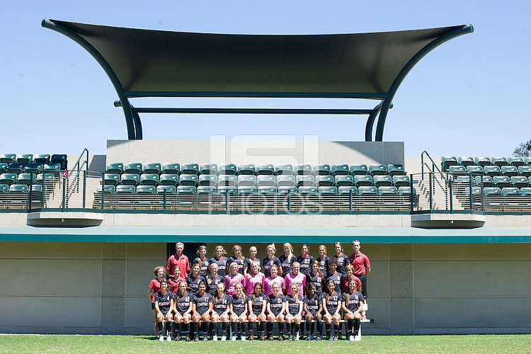 STANFORD, CA - AUGUST 13, 2013 -  Stanford Women's Soccer team.