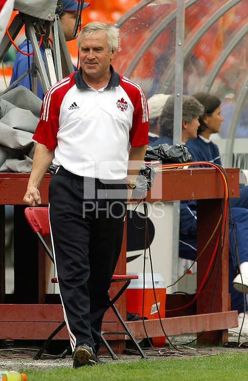 Evan Pellerud, Canadian Head Coach , USWNT vs Canada April 26, 2003.