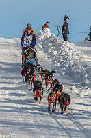 Jessie Royer on Cordova St. hill during the Anchorage start day of Iditarod 2018 on Cordova St. hill during the Anchorage start day of Iditarod 2019