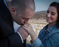 Adrienne & Mike's engagement session at Squirrel Hill iin Pittsburgh, PA on April 1, 2014.