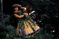 A performance of hula kahiko (ancient hula)