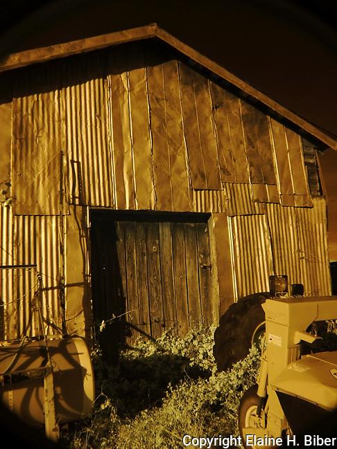 Old tin farm shed