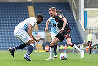 Bolton Wanderers' Craig Noone competing with Blackburn Rovers' Ryan Nyambe <br /> <br /> Photographer Andrew Kearns/CameraSport<br /> <br /> The EFL Sky Bet Championship - Blackburn Rovers v Bolton Wanderers - Monday 22nd April 2019 - Ewood Park - Blackburn<br /> <br /> World Copyright © 2019 CameraSport. All rights reserved. 43 Linden Ave. Countesthorpe. Leicester. England. LE8 5PG - Tel: +44 (0) 116 277 4147 - admin@camerasport.com - www.camerasport.com