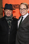 Fisher Stevens and Matthew Broderick attend the Off-Broadway Opening Night performance of the Second Stage Production on 'Torch Song'  on October 19, 2017 at Tony Kiser Theater in New York City.