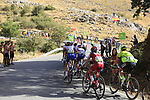 Riders climb Sierra de la Alfaguara during Stage 4 of the La Vuelta 2018, running 162km from Velez-Malaga to Alfacar, Sierra de la Alfaguara, Andalucia, Spain. 28th August 2018.<br /> Picture: Eoin Clarke | Cyclefile<br /> <br /> <br /> All photos usage must carry mandatory copyright credit (&copy; Cyclefile | Eoin Clarke)