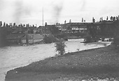 Print caption: &quot;Pagosa Springs looking northwest from east side of San Juan River.&quot;<br /> Pagosa Springs, CO  Taken by Mollette, Erskine (Rex)