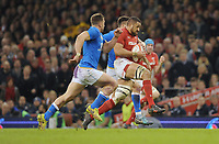 Wales Taulupe Faletau makes a break <br /> <br /> Photographer Ian Cook/CameraSport<br /> <br /> 2018 NatWest Six Nations Championship - Wales v Italy - Sunday 11th March 2018 - Principality Stadium - Cardiff<br /> <br /> World Copyright &copy; 2018 CameraSport. All rights reserved. 43 Linden Ave. Countesthorpe. Leicester. England. LE8 5PG - Tel: +44 (0) 116 277 4147 - admin@camerasport.com - www.camerasport.com