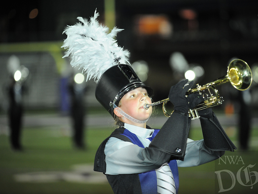 NWA Democrat-Gazette/ANDY SHUPE<br /> Fayetteville Bentonville West Friday, Sept. 30, 2016, during the first half at Harmon Stadium in Fayetteville. Visit nwadg.com/photos to see more photographs from the game.