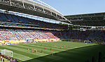 14 June 2006: A wide view of the stadium shortly before Spain scored their second goal from a free kick. Spain played Ukraine at Zentralstadion in Leipzig, Germany in match 15, a Group H first round game, of the 2006 FIFA World Cup.