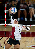 STANFORD, CA - September 2, 2010: Stephanie Browne during a volleyball match against UC Irvine in Stanford, California. Stanford won 3-0.