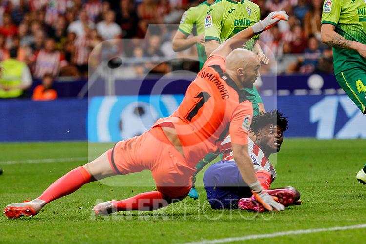 Thomas Teye of Atletico de Madrid in action during La Liga match between Atletico de Madrid and SD Eibar at Wanda Metropolitano Stadium in Madrid, Spain.September 01, 2019. (ALTERPHOTOS/A. Perez Meca)
