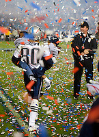New England Patriots wide receiver Troy Brown. Super Bowl XXXIX, Eagles vs Patriots, Alltell Stadium, Jacksonville, FL.  Sunday, Feb.6, 2005.