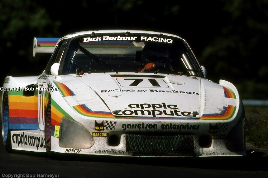 Bobby Rahal drives the Porsche 935 K3 009 00030 during the Six Hours of Watkins Glen on July 5, 1980, at Watkins Glen International near Watkins Glen, New York.