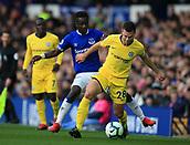 17th March 2019, Goodison Park, Liverpool, England; EPL Premier League Football, Everton versus Chelsea; Idrissa Gueye of Everton tackles Cesar Azpilicueta of Chelsea