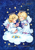 Interlitho, CHRISTMAS CHILDREN, WEIHNACHTEN KINDER, NAVIDAD NIÑOS, paintings+++++,2 angels,cloud,gift,KL6027,#xk#