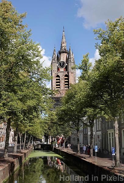Nederland Delft - Augustus 2018. De Oude Kerk in Delft.   Foto Berlinda van Dam / Hollandse Hoogte