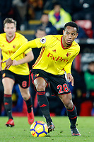 AndrÈ Carrillo of Watford in action during the EPL - Premier League match between Crystal Palace and Watford at Selhurst Park, London, England on 12 December 2017. Photo by Carlton Myrie / PRiME Media Images.
