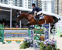 www.acepixs.com<br /> <br /> April 15 2017, Miami<br /> <br /> Jennifer Gates competes at the Longines Global Champions Tour stop in Miami Beach - Global Champions League Final  on April 15, 2017 in Miami Beach, Florida.<br /> <br /> By Line: Solar/ACE Pictures<br /> <br /> ACE Pictures Inc<br /> Tel: 6467670430<br /> Email: info@acepixs.com<br /> www.acepixs.com