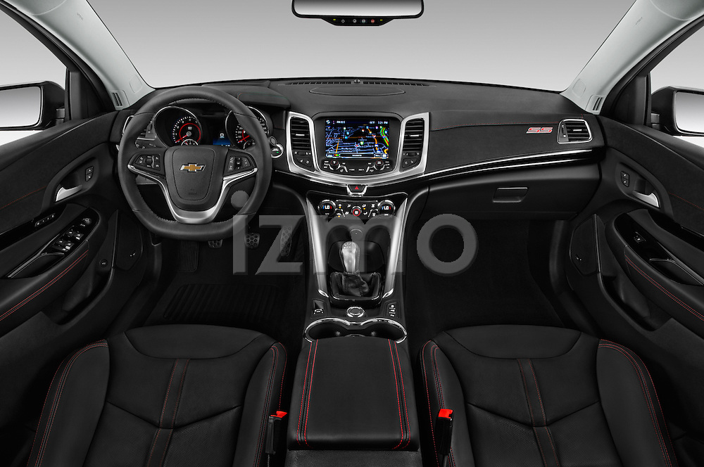Stock photo of straight dashboard view of 2016 Chevrolet SS 6.2 4 Door Sedan Dashboard