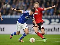 FUSSBALL   1. BUNDESLIGA   SAISON 2012/2013    29. SPIELTAG FC Schalke 04 - Bayer 04 Leverkusen                        13.04.2013 Ciprian Marica (li, FC Schalke 04) gegen Michal Kadlec (re, Bayer 04 Leverkusen)