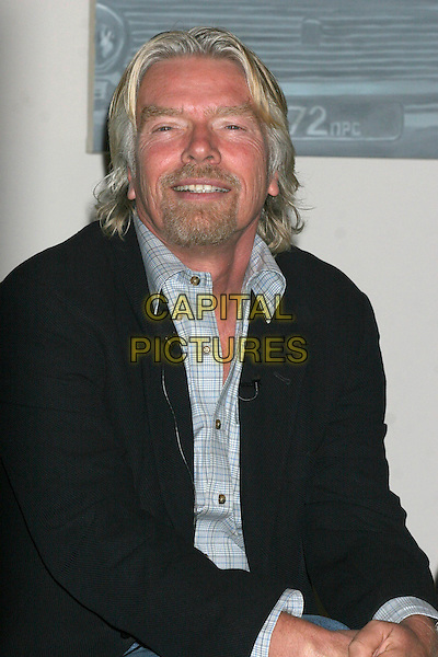 SIR RICHARD BRANSON.Announces the headliners and dates for the Virgin Festival 2007 by Virgin Moble at the Soho House, New York, New York, USA. .March 22nd, 2007.half length black suit jacket goatee facial hair .CAP/IW.©Ian Wilson/Capital Pictures