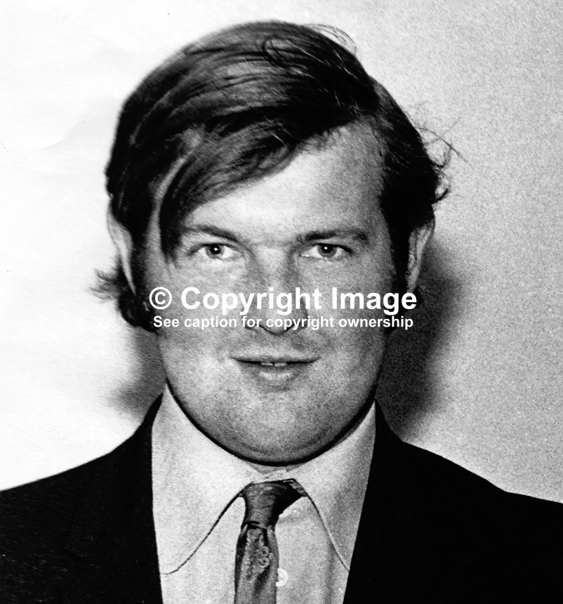 Stanley Irwin, 26 years, single, Protestant, farmer, Derryfubble, Dungannon, shot dead by Provisional IRA, 5th November 1975. He was a prominent member, YFC,  Young Farmers' Club. No security force connection. Described by police as a sectarian murder. 197511050719..Copyright Image from Victor Patterson, 54 Dorchester Park, Belfast, United Kingdom, UK...For my Terms and Conditions of Use go to http://www.victorpatterson.com/Victor_Patterson/Terms_%26_Conditions.html