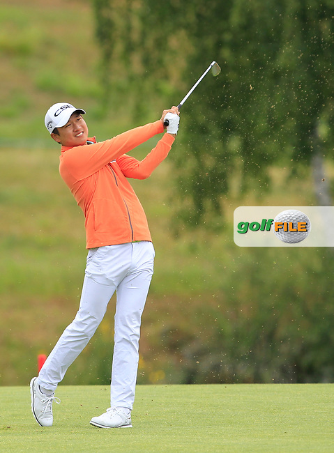 Jeunghun Wang (KOR) on the 1st fairway during Round 2 of the HNA Open De France  at The Golf National on Friday 30th June 2017.<br /> Photo: Golffile / Thos Caffrey.<br /> <br /> All photo usage must carry mandatory copyright credit      (&copy; Golffile | Thos Caffrey)