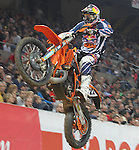 10.02.2013 Barcelona , Spain. FIM Superenduro World Championships. Picture show Jonny Walker GBR riding KTM during GP of Catalonia at Palau St. Jordi