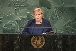 "DSG meeting<br /> <br /> AM Plenary General DebateHis<br /> <br /> Her Excellency Erna SOLBERG -"" Prime Minister of Norway"