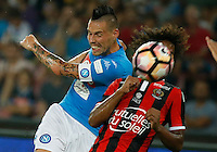 Marek Hamsik  during the friendly soccer match,between SSC Napoli and Onc Nice      at  the San  Paolo   stadium in Naples  Italy , August 01, 2016<br />  during the friendly soccer match,between SSC Napoli and Onc Nice      at  the San  Paolo   stadium in Naples  Italy , August 02, 2016