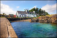 BNPS.co.uk (01202 558833)<br /> Pic: KnightFrank/BNPS<br /> <br /> Harbour and tea rooms.....<br /> <br /> How the Ulva half live - Escape to your own Scottish island..If you have &pound;4.25 million to spare.<br /> <br /> This stunning Scottish island that inspired writers including Beatrix Potter and Sir Walter Scott has just gone on the market.<br /> <br /> Ulva is the second largest island of the Inner Hebrides at 4,583 acres, but the new owners will have to be happy going back to basics as it can only be reached by ferry, has no tarmac roads and just 16 people live there, mostly farmers.<br /> <br /> It is described by agents Knight Frank as one of the finest private islands in northern Europe and is on the market for the first time in more than 70 years.<br /> <br /> The sale includes a seven-bedroom house, a church, a restaurant and tea room, and eight other properties. There are also farm buildings to support the agricultural and livestock operation.