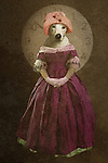 fantasy art, dog dressed as female