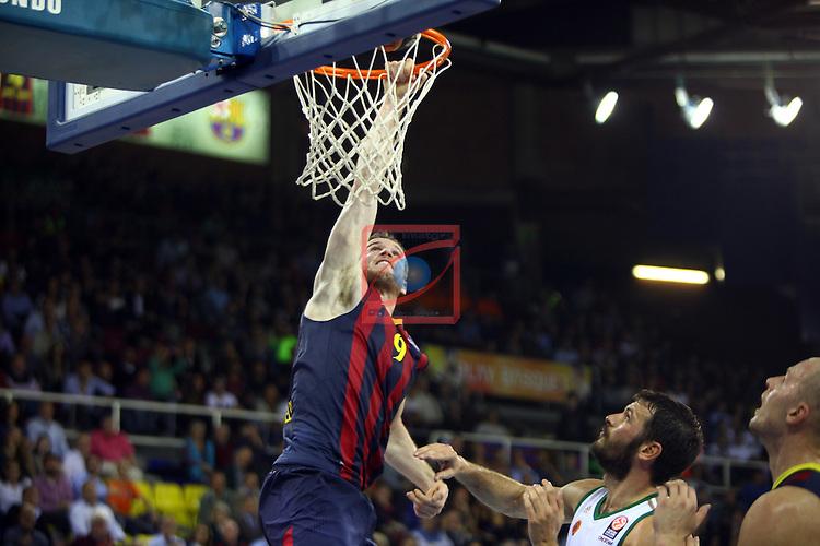 Euroleague Basketball-Regular Season Round 5.<br /> FC Barcelona vs Panathinaikos Athens: 78-69.<br /> Marcelinho Huertas.