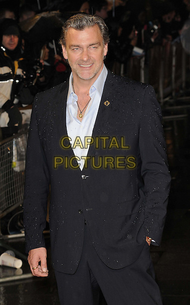 "Ray Stevenson.The ""G.I. Joe 2: Retaliation"" UK film premiere, Empire cinema, Leicester Square, London, England..March 18th, 2013.half length black suit white blue shirt hand in pocket .CAP/CAN.©Can Nguyen/Capital Pictures."