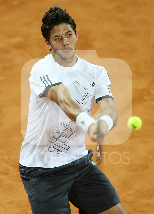 Spain's Fernando Verdasco during his Madrid Open quarter final match.May 15 2009.(ALTERPHOTOS/Acero).