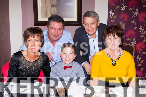 Enjoying their last meal of 2014 in Paddy's restaurant Killarney on New Years Eve were l-r: Sheila McCarthy, Neilus McCarthy, Cian Lynch, Tim and Kathleen Ryan