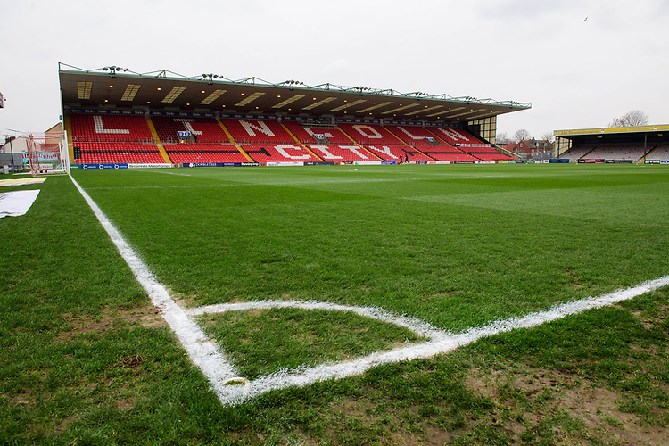A general view of Sincil Bank, home of Lincoln City FC<br /> <br /> Photographer Chris Vaughan/CameraSport<br /> <br /> The EFL Sky Bet League Two - Saturday 15th December 2018 - Lincoln City v Morecambe - Sincil Bank - Lincoln<br /> <br /> World Copyright © 2018 CameraSport. All rights reserved. 43 Linden Ave. Countesthorpe. Leicester. England. LE8 5PG - Tel: +44 (0) 116 277 4147 - admin@camerasport.com - www.camerasport.com