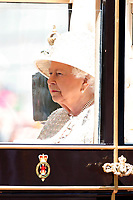Trooping The Colour 2019<br /> LONDON, ENGLAND - JUNE 08: Her Majesty The Queen Elizabeth II at Trooping The Colour, the Queen's annual birthday parade, on June 08, 2019<br /> CAP/GOL<br /> ©GOL/Capital Pictures