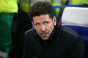 5th December 2017, Stamford Bridge, London, England; UEFA Champions League football, Chelsea versus Atletico Madrid; Atletico Madrid Manager Diego Simeone looks on from the touchline before kick off