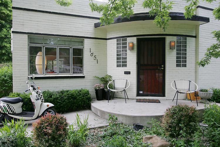 Exterior of Denver home of Jill Warner and her husband, Erick Roorda, owners of Mod Livin'.