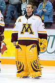 Kellen Briggs (University of Minnesota - Coon Rapids, MN) lines up. The University of Minnesota Golden Gophers defeated the Michigan State University Spartans 5-4 on Friday, November 24, 2006 at Mariucci Arena in Minneapolis, Minnesota, as part of the College Hockey Showcase.