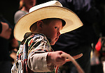 Young Cheyenne resident Owen Schon, 3, gets ready to lasso a roping dummy during the 14th Annual Kids Cowboy Festival at the Cheyenne Frontier Days Old West Museum Saturday morning. Over 500 kids from around the area participated in the event that featured interactive western entertainment and crafts. Michael Smith/staff