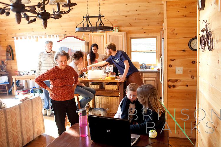 Brinson family 2010 Thanksgiving at a cabin in Mars Hill, North Carolina.
