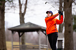 WATERTOWN,  CT-041119JS17-  Watertown's Hayley Zemaitis tees off on the 14th hole during their match with Torrington Thursday at Crestbrook Park in Watertown. <br /> Jim Shannon Republican American