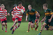 Counties Manukau Junior Under 13 Restricted Final rugby game between Karaka Red and Pukekohe, played at Patumahoe on Saturday September 3rd 2016. Karaka won the gam 29 - 12.<br /> Photo by Richard Spranger